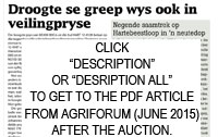 Agriforum June 2016: Article after the auction