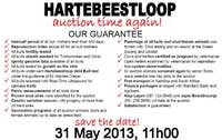 Hartebeestloop Auction 2013 Guarantees