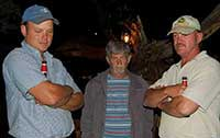 Andre van Wyk, The late Johan Briedenhann and Cobus de Jager.
