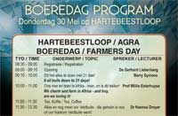 Hartebeestloop/Agra Farmers Day 2013 Program