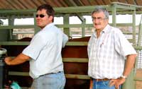 Petrus Maritz from the Namibian Meat Board and Dr Hannes Dreyer from Southern Africa Veld Bull