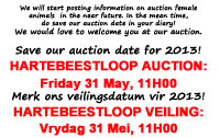 Save our 2013 Auction date!