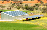 A striking site - solar panels on Hartebeestloop Shed (April 2015)